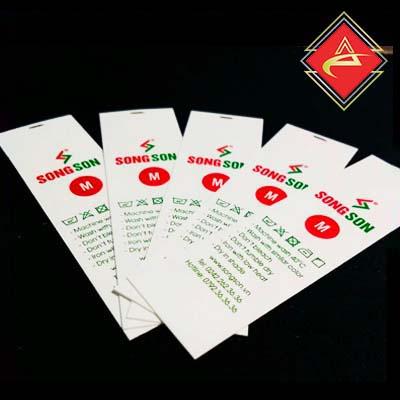 Xưởng in nhãn mác acca chuyên in mác dệt, mác thêu, túi, thẻ bài, mác satin, mác cotton,....