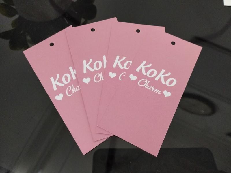 In tag giấy cho quần áo