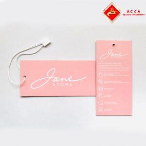 In thẻ bài nhãn mác quần áo ACCA
