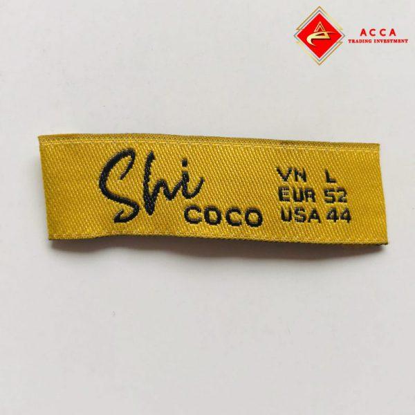 Mác dệt in nhãn mác quần áo Hà Nội
