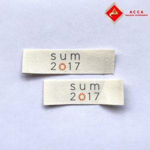 Nhãn mác cotton quần áo ACCA