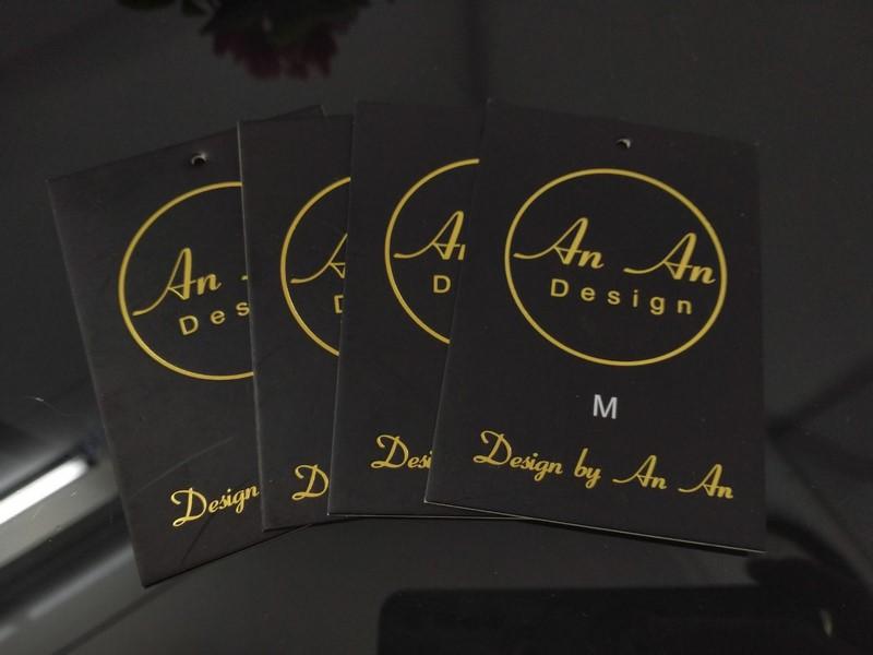 Tag ép nhũ vàng An An Design