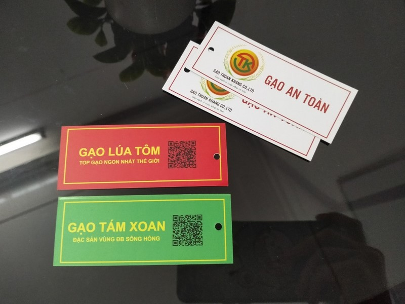 In tag giấy cho sản phẩm gạo